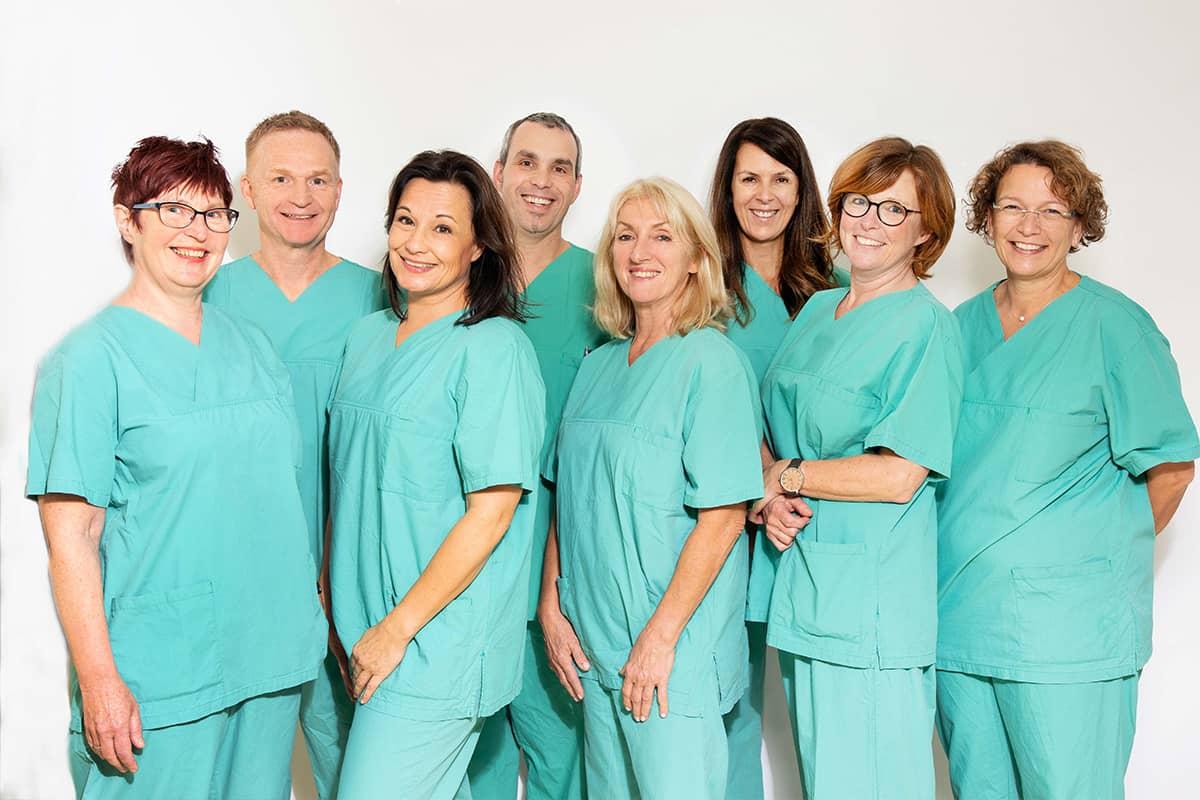 op team der gemeinschaftspraxis fuer anaesthesie